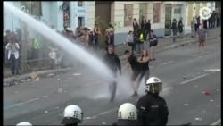 Антиглобалисты второй день устраивают акции протеста и беспорядки в Гамбурге