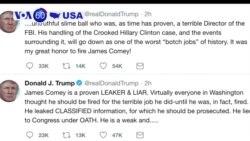 Manchetes Americanas 13 Abril: Trump twittou que ex director do FBI, James Comey é um mentiroso sujo