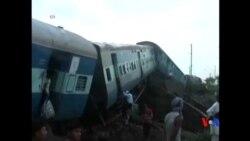 2015-08-05 美國之音視頻新聞:印度兩列火車脫軌至少24人死亡