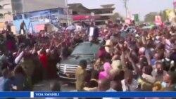 Uhuru Kenyatta akimwaga sera kuelekea uchaguzi mkuu wa marudio nchini Kenya.