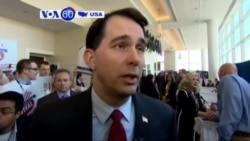 VOA60 America- Wisconsin Governor Scott Walker officially announced candidacy for president through a tweet Saturday morning- July 7, 2015