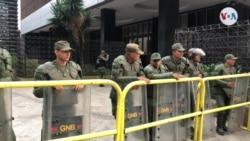 Guardia Nacional Bolivariana bloquea inmediaciones de la Asamblea Nacional de Venezuela