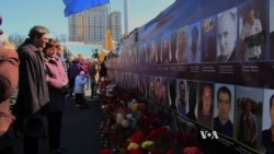 Ukrainians Memorialize Protesters Killed in Kyiv