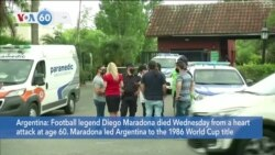 VOA60 World - Football Legend Diego Maradona Dead at 60