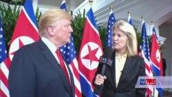 مصاحبۀ رئیس جمهور دونالد ترمپ با صدای امریکا
