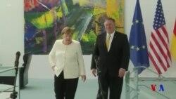蓬佩奧與德國總理及外長會面討論伊核、華為等問題 (粵語)
