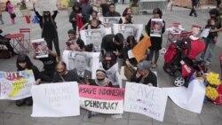 WNI di New York Demo SBY Terkait RUU Pilkada