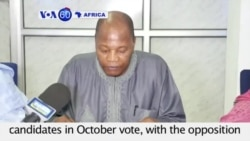 VOA60 Africa - Guinea: UN envoy appeals for restraint among candidates in October vote - September 15, 2015