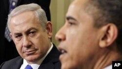 바락 오바마 미 대통령과 5일 백악관에서 만난 베냐민 네타냐후 이스라엘 총리.