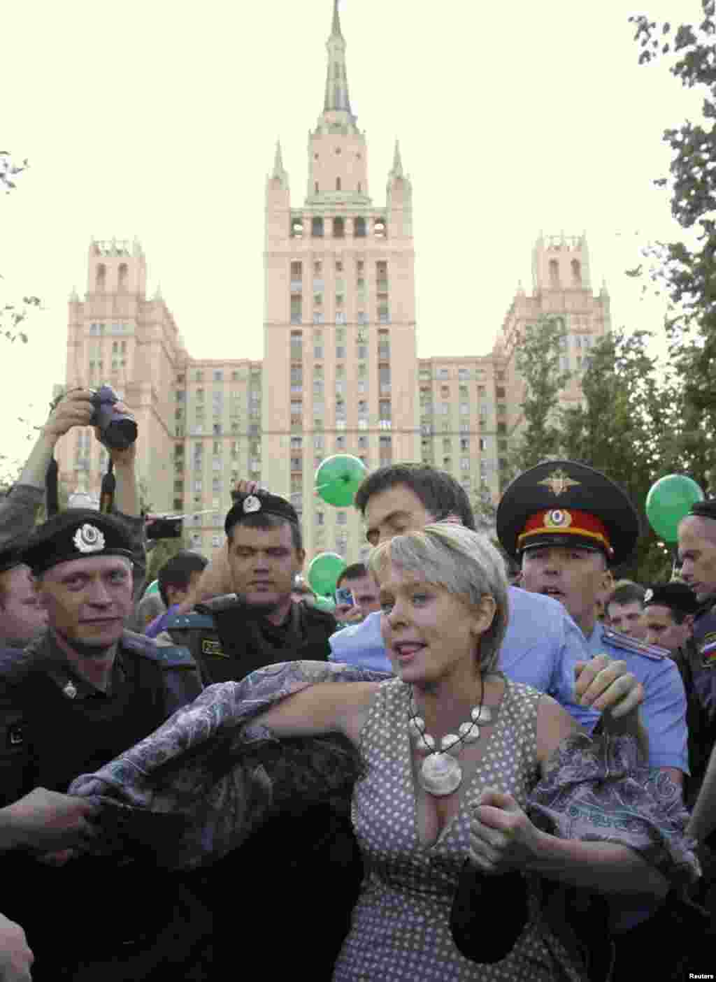 Задержание Евгении Чириковой
