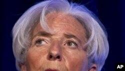 国际货币基金组织总裁拉加德4月3日在华盛顿