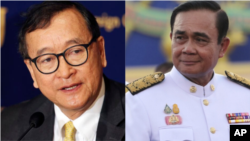 Thailand's Prime Minister Prayuth Chan-ocha has given an order, prohibiting Cambodia's opposition leader Sam Rainsy and his group from entering Thailand territory as they plan to make their way through the country to the Cambodian border.