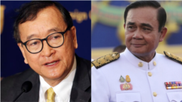 Ông Sam Rainsy và Thủ tướng Thái Lan Prayuth Chan-ocha.