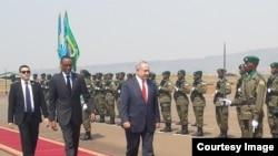 UmushikIranganji wa mbere wa Isirayeli Benjamin Netanyahu mu rugendo mu Rwanda