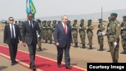 Benjamin Netanyahu est arrivé au Rwanda le 6 juillet 2016.