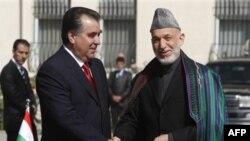 Эмомали Рахмон и Хамид Карзай