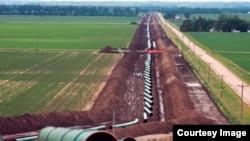 经过内布拉斯加州大卫城的基思通输油管道正在建设中。(照片来源:TransCanada)