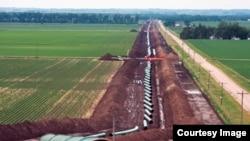 Construcción del oleoducto Keystone en David City, Nebraska. (Cortesía TransCanada)
