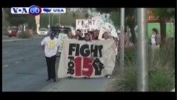 Dân Mỹ biểu tình đòi tăng lương tối thiểu (VOA60)