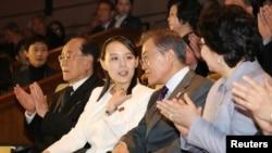 Bà Kim Yo Jong gặp Tổng Thống Hàn Quốc Moon Jae-in.