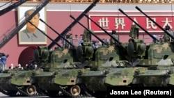 Kineski protivavionski sistemi tokom vojne parade i obeležavanja 70 godina okončanja Drugog svetskog rata (Foto: Reuters/Jason Lee)