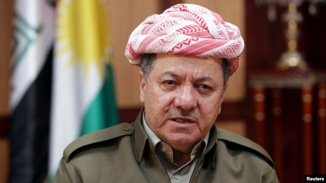 Kurdish Regional Government President Masoud Barzani smiles during an interview with Reuters in Arbil, about 350 km (220 miles) north of Baghdad, Iraq, June 2, 2013.