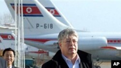 11일 평양에 도착한 알렉세이 보르다브킨 러시아 외무차관