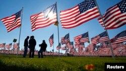 Para veteran perang Vietnam AS menghadiri peringatan hari Veteran di Aurora, Illinois (foto: ilustrasi).