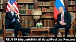 拜登和普京舉行首腦會談。