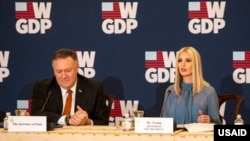 Secretary of State Mike Pompeo and White House Senior Advisor Ivanka Trump attend last month's W-GDP anniversary celebration.
