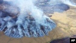 آتش سوزی جنگل ها در آلاسکا؛ دانشمندان گرمایش جهانی را از عوامل آن میدانند.