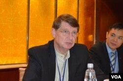 李沃奇, 富布赖特学术交流基金会台湾办事处执行长 (美国之音申华拍摄)
