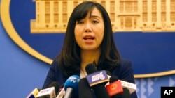 """Bà Lê Thị Thu Hằng nói với VOA tiếng Việt rằng Hà Nội """"luôn luôn tuân thủ các nghị quyết liên quan của Hội đồng Bảo an Liên Hiệp Quốc"""" về Bắc Hàn.."""