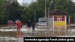 Vanredna odbrana od poplava na teritoriji cele Srbije, Foto: video grab