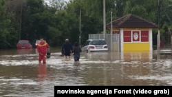 Vanredna odbrana od poplava na teritoriji cele Srbije proglašena je posle velikih padavina prošle nedelje, Foto: video grab