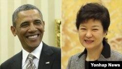 """윤창중 청와대 대변인은 12일 브리핑에서 """"박 대통령은 바락 오바마 대통령의 초청으로 미국을 방문할 예정이며, 5월 상순 방미를 염두에 두고 한미간 협의를 진행중""""이라고 밝혔다."""