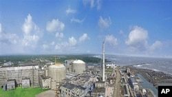 This undated photo provided by the Nuclear Power Corporation of India Limited shows the Pressurized Heavy Water Reactors Tarapur 3 and 4 at the Tarapur Atomic Power Station in Maharashtra state (file photo)