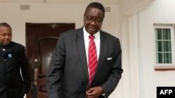 Peter Mutharika à Blantyre, le 25 mai 2014.