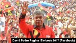 Le général à la retraite Joao Lourenço candidat à la présidentielle en Angola, juillet 2017.