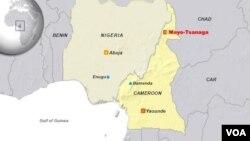 Peta lokasi kota Mayo Tsanaga di Kamerun utara (foto: ilustrasi).