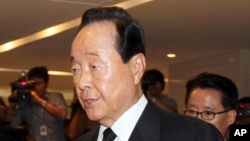 FILE - Former South Korean President Kim Young-sam, pictured in Seoul, Aug. 18, 2009.