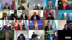 Konferans video Konsèy Sekirite l ONU an sou kriz politik la ann Ayiti. (Lendi 22 fevriye 2021. Foto: UNSC).