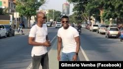 Comediantes Calado Show (esq) e Gilmário Vemba (dir)