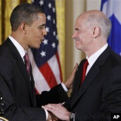Από προηγούμενη συνάντηση του Έλληνα Πρωθυπουργού με τον Πρόεδρο Ομπάμα, όπου και πάλι είχε συζητηθεί το θέμα της οικονομίας