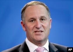 FILE - Prime Minister of New Zealand John Key.
