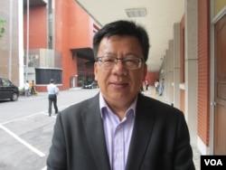 台湾在野党民进党立委李俊俋( 美国之音张永泰拍摄)