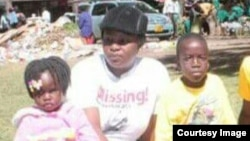 FILE: Sheffra Dzamara and her children at Africa Unity Square. (Photo: Occupy Africa Unity Square)