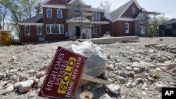 Los precios de las casas nuevas en EE.UU. ha aumentado a su nivel más alto en 32 meses.