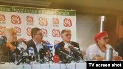 La Fuerza Alternativa Revolucionaria del Común (FARC) señaló que se reunirá en los próximos días para decidir futuras acciones.