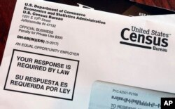 This March 23, 2018, photo shows an envelope containing a 2018 census test letter mailed to a resident in Providence, R.I. The nation's only test run of the 2020 Census is in Rhode Island, and it's drawing concerns from community leaders, good-government groups and others about how it's being run.
